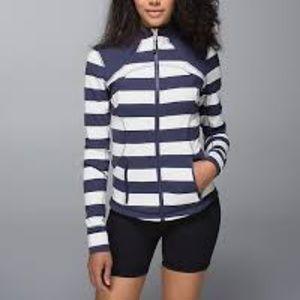 Lululemon Forme Jacket Blue White Stripe, 12